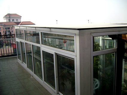 供应顶楼搭建玻璃阳光房玻璃屋设计价格