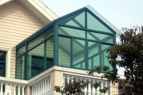人字形阳光房设计-北京精恒门窗阳光房